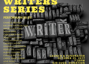 I'm reading with my community! Wednesday 10-25-17 at 7:30 PM   PLEASE COME if you can.