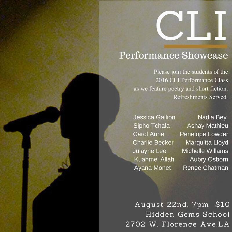 CLI Performance Showcase flyer