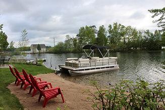 Traverse City cabin rental - view of Silver Lake waterfront
