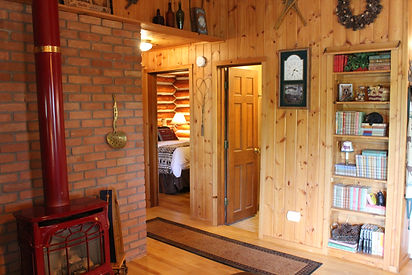 Traverse City cabin rental - guest room with rocking chair