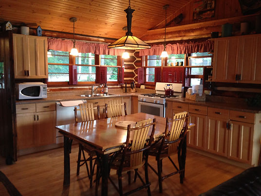 Traverse City cabin rental - kitchen and dining areas