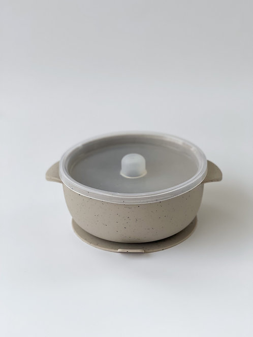 SILICONE BOWL - SPECKLED OAT