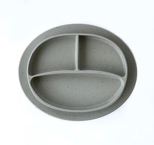 SILICONE PLATE - SPECKLED PISTACHE