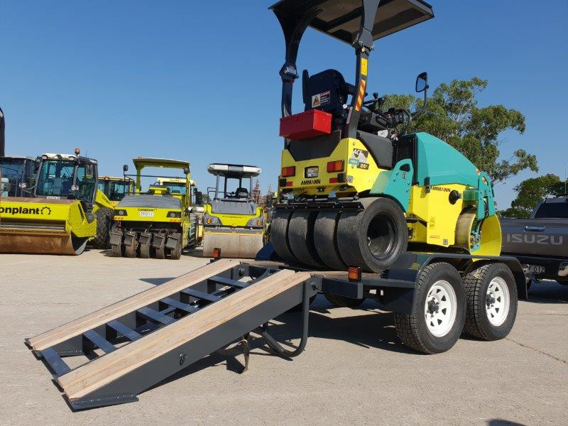 Construction Plant Trailer lowered ramp