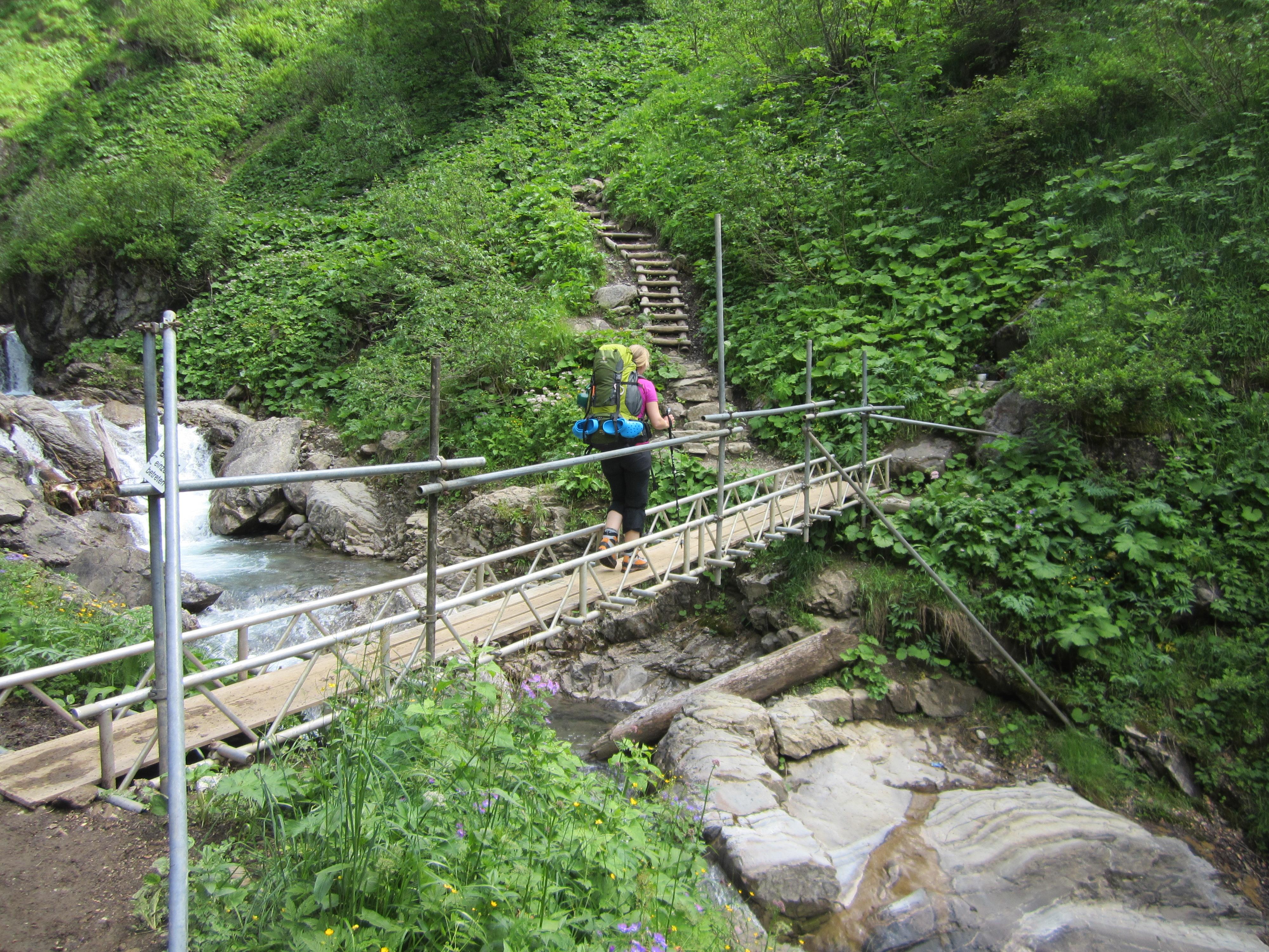 Aufstieg zu Kemptner Hütte