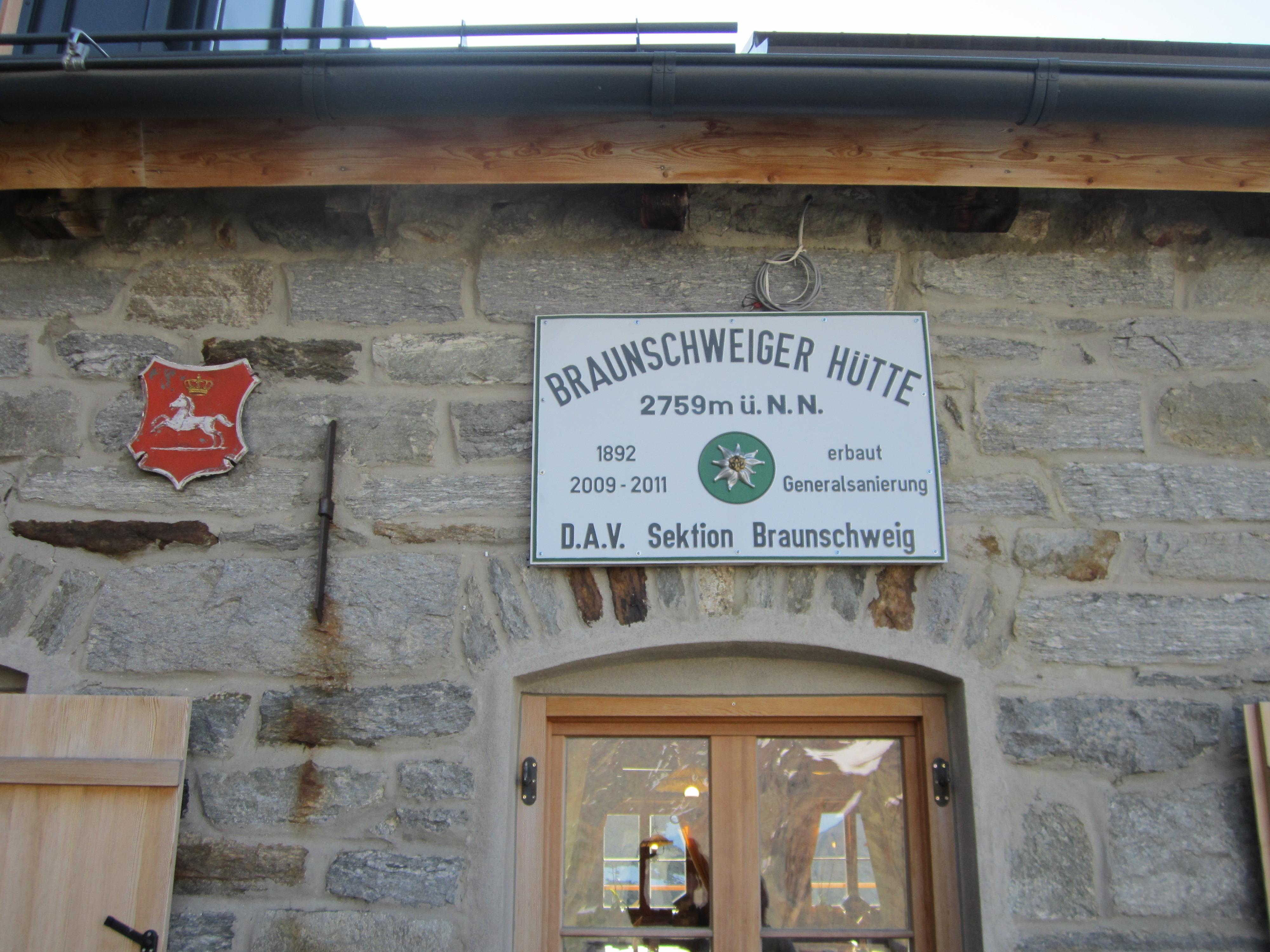 Braunschweiger Hütte 2759m