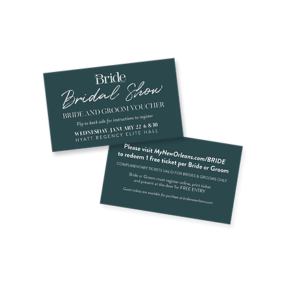 Bridal Show Bride & Groom Voucher