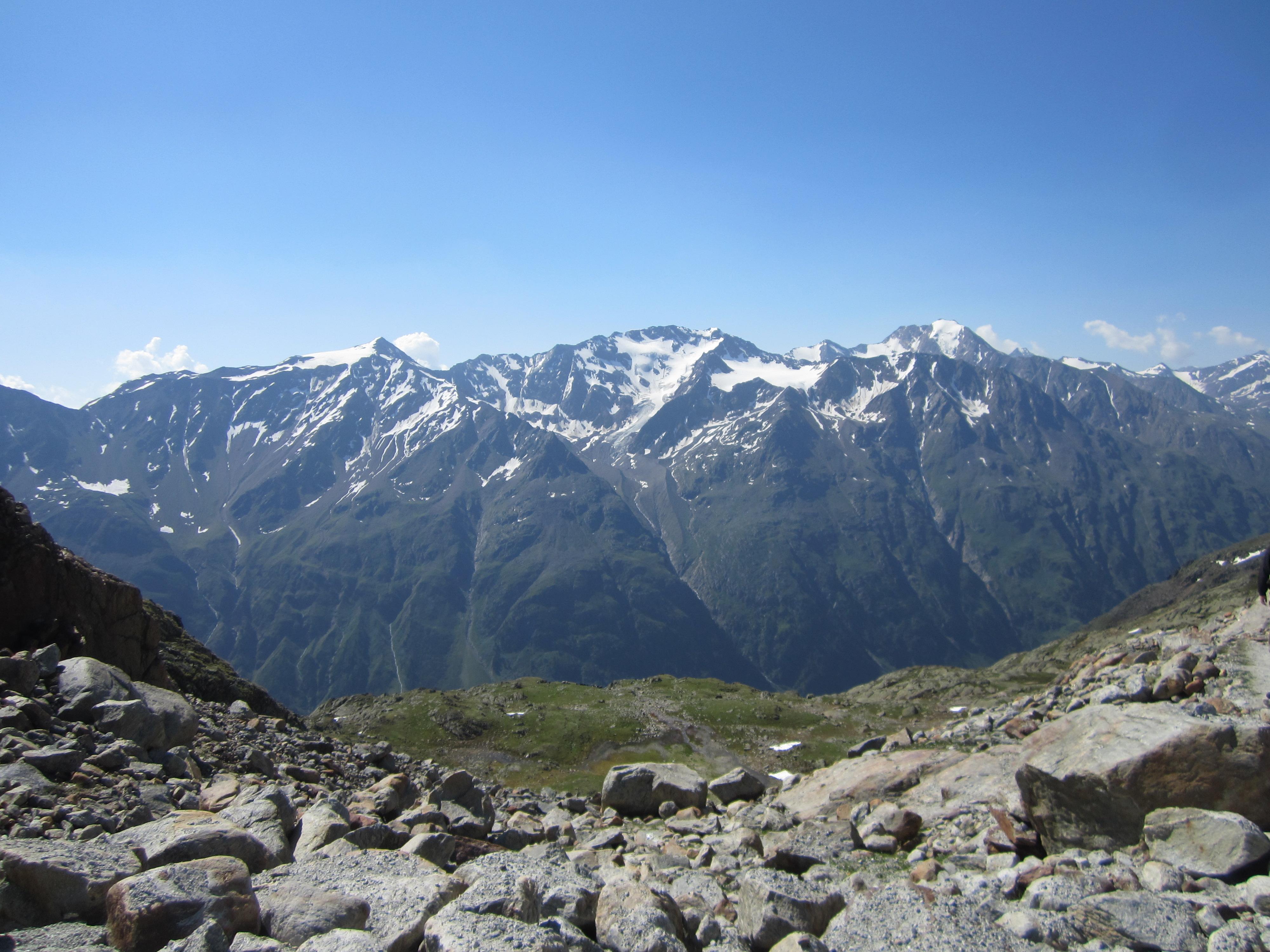 Blick in die Ötztaler Alpen