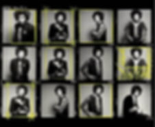 Contact Sheet Jimi Hendrix by Gered Mank