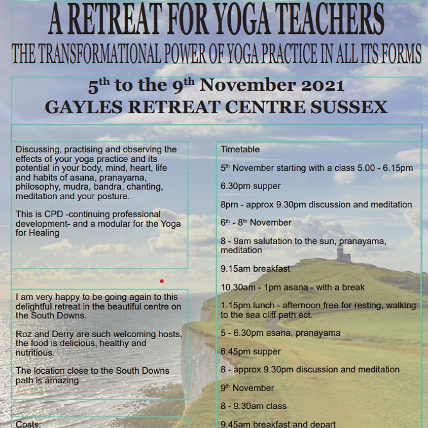 A RETREAT FOR YOGA TEACHERS