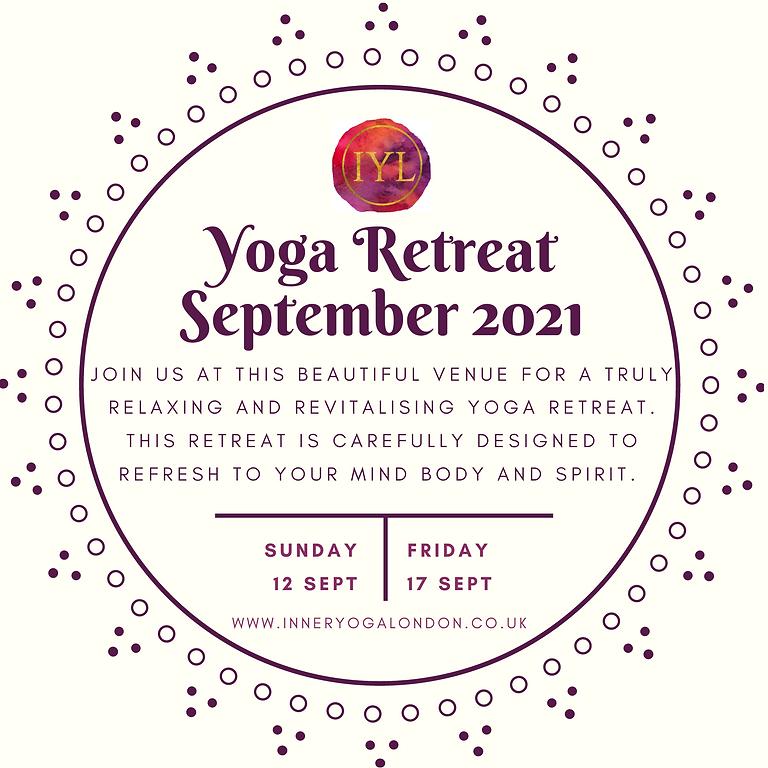 Inner Yoga London Retreat September 2021
