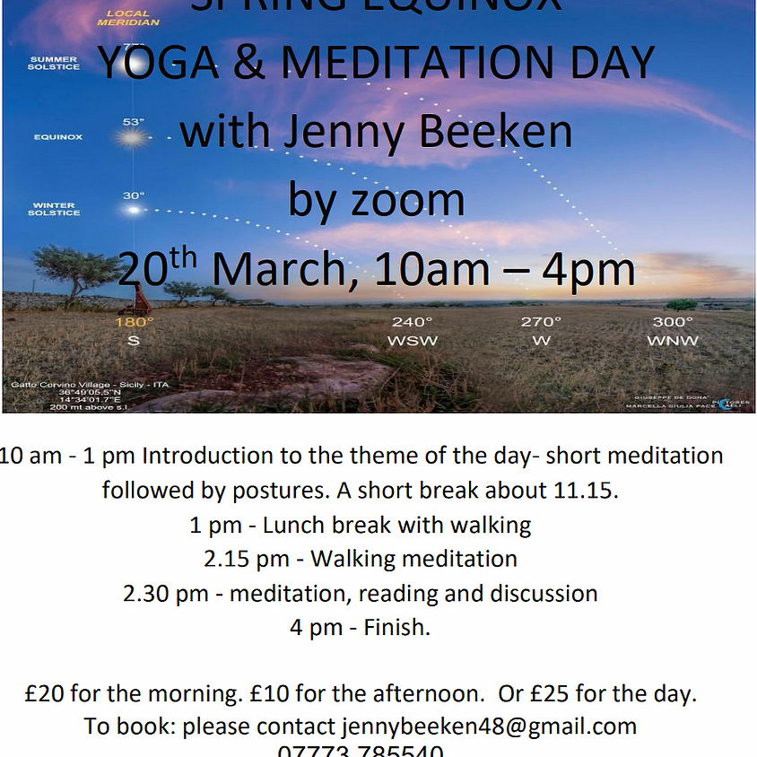 Jenny - Spring Equinox workshop 20th March