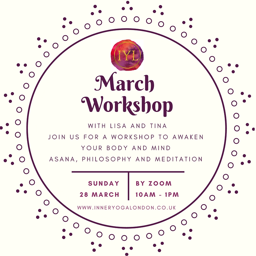 March Workshop with Lisa and Tina - 28th March 2021