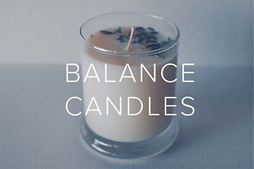 Moss and Milk Home Page Balance Candles