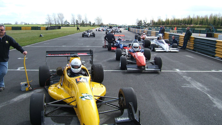 Lining up for the run offs at Croft early 2000's