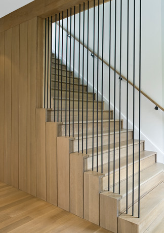 Custom stair and screen wall