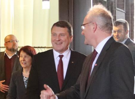 Der Besuch des lettischen Staatspräsidenten im Brömsehaus