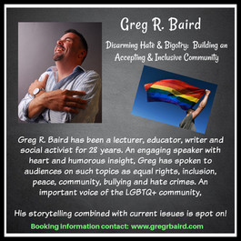 Greg R. Baird Speaking on Being A Leader In Your Community