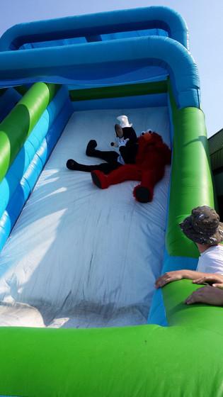 Orange-Bird-Mascot-At-Inflatable-Slide.jpg
