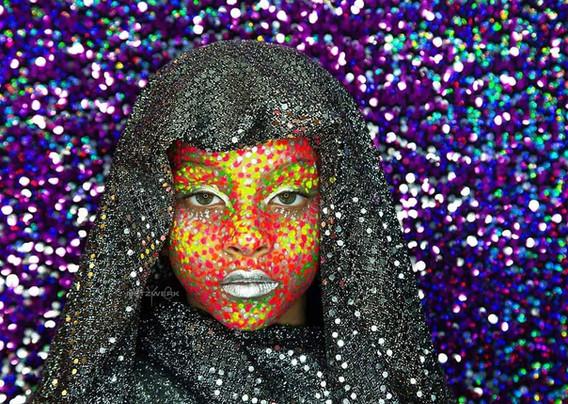 Alien-Full-Body-Paint-Of-Woman