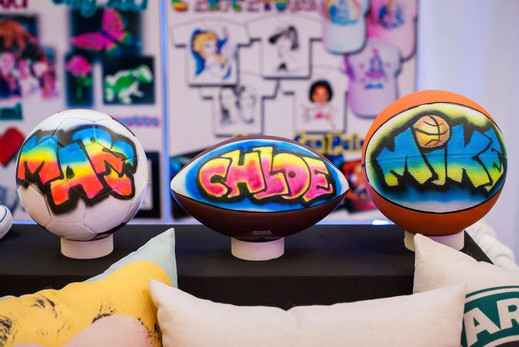 Volleyball-Football-And-Basketball-Airbrushed-Party-Favor