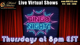 Virtual Music Video Bingo
