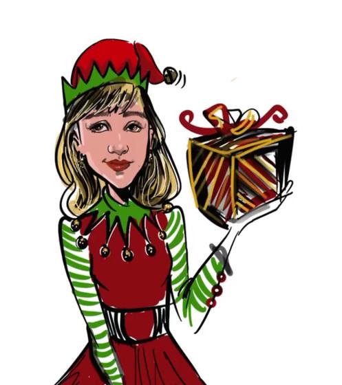 Virtual caricature of Elf