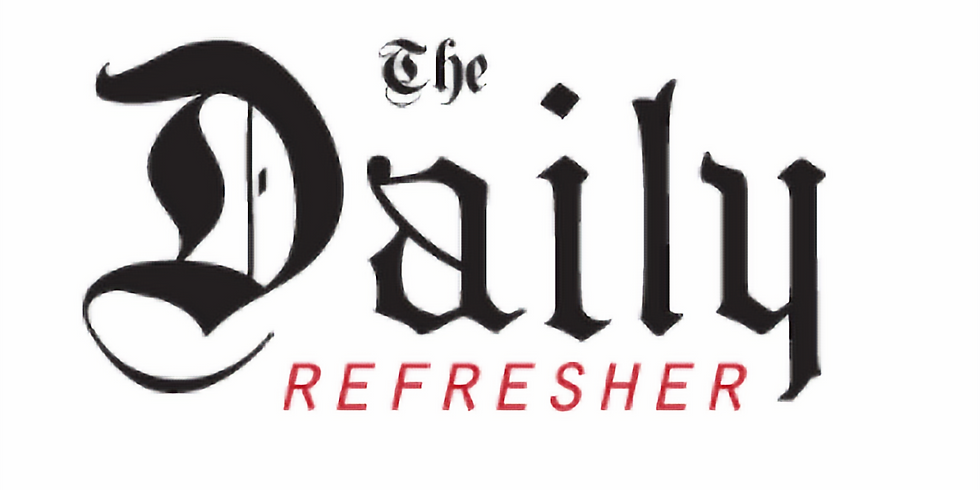 Sally live at The Daily Refresher