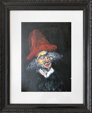 Autorretrato con sombrero rojo