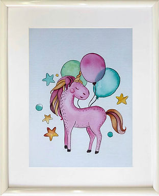 Unicorn with balloons