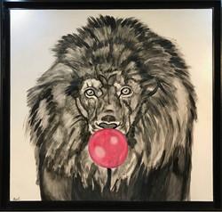 Lion with a Bubble Gum