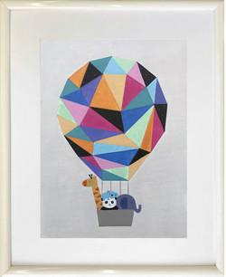 Hot Air Balloon marco blanco