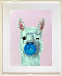 Blue Bubble Llama