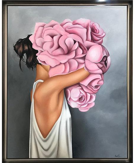 Mujer con flores II