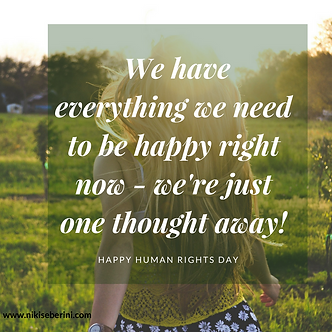 We have everything we need to be happy r