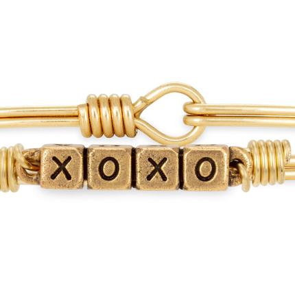 XOXO blocks bangle bracelet