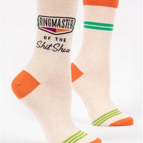 Ringmaster of the shit show w-crew socks