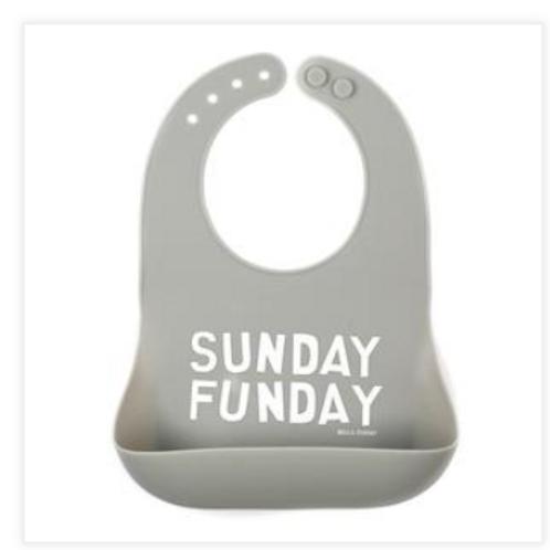 Sunday Funday silicone bib
