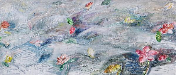 생의화음   33x77cm, Mixed Media on Canvas, 2