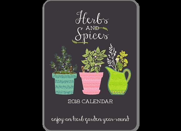 Herbs and Spices 2018 Calendar