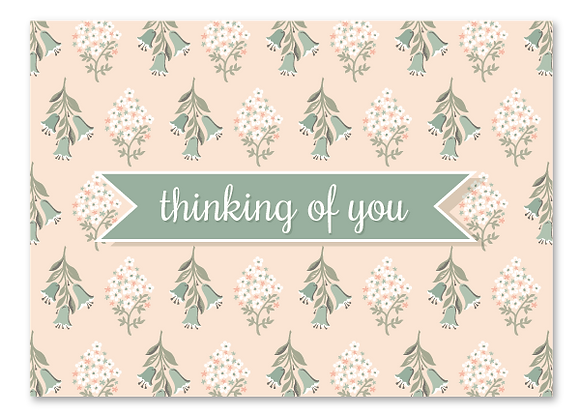 Thinking of you cards - blush (package of 6)