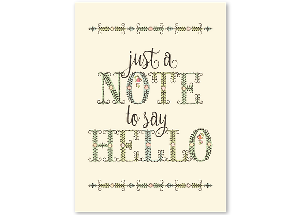 Note to say hello (package of 6)