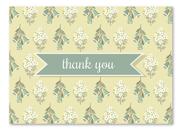 Thank you cards - butter (package of 6)