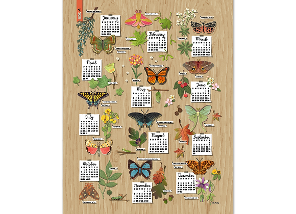 Perfect Partners Calendar Poster 2018