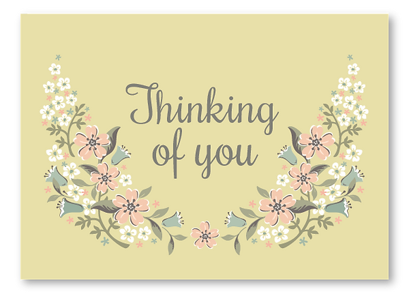 Thinking of you cards -floral (package of 6)