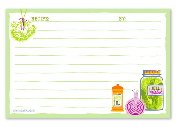 Organic Fruitation Recipe Cards