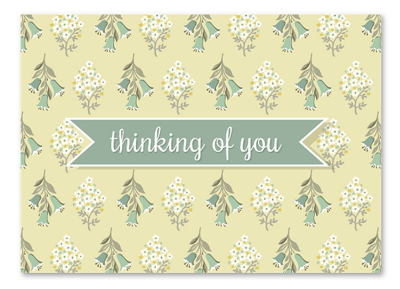 Thinking of you cards - butter (package of 6)