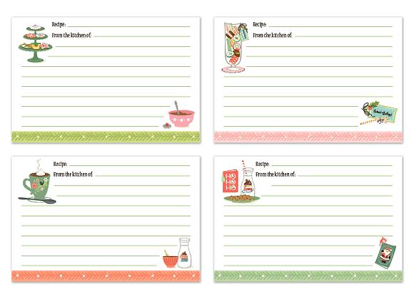 12 Joys Recipe Cards (Set of 16)