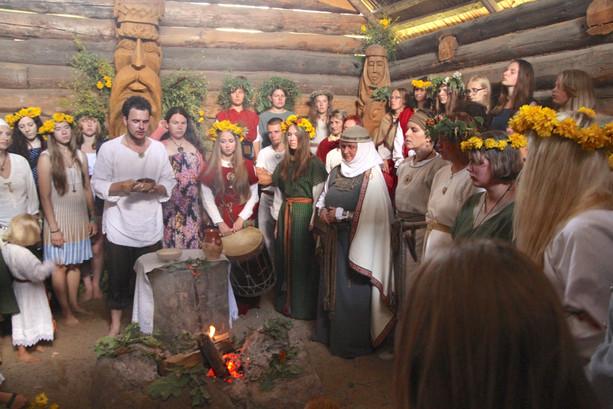 Sacred pagan ritual, rural Lithuania