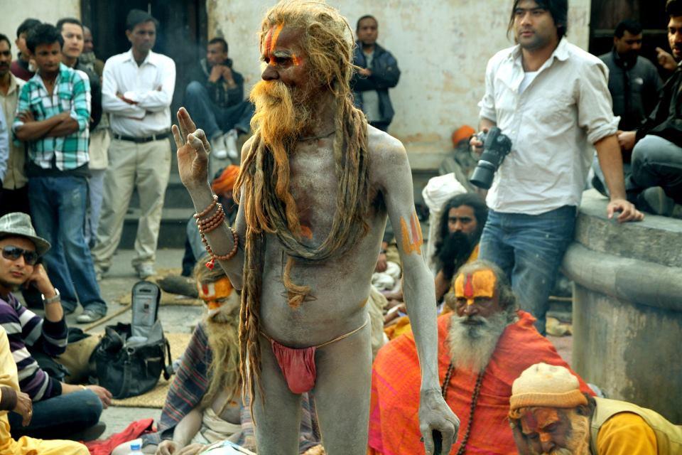 Baba worshipping in Nepal